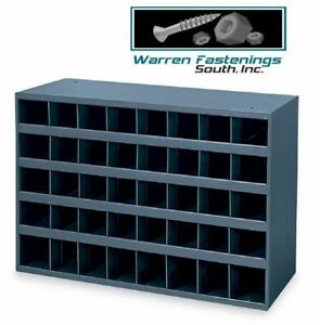 Metal 40 Hole Storage Bin Cabinet For Nuts Bolts And Fasteners
