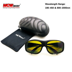 2x Hq Od4 190 450nm 800 2000nm Laser Protective Goggles Glasses Ce Eagle Pair