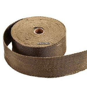 New 2roll Thermal Header Pipe Tape Titanium Lava Exhaust Wrap 2 x 50ft Ties Kit