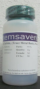 Tantalum Carbide 99 5 trace Metals Basis Powder 325 Mesh Certified 10g