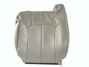 00 02tahoe suburban silverado Leather Driver Backrest Med Pewter gray 922