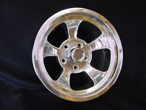 15x6 Halibrand Style Gasser Hotrod 5 On 4 75 Bp Gm Chevy 1612 Rons Rims