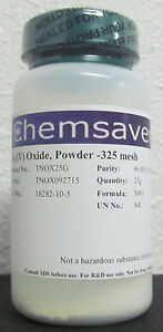 Tin iv Oxide Powder 325 Mesh 99 995 metals Basis Certified 25g