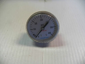 New Millipore Pressure Gauge 01 0120 h 010120h 0 60 Psi 1 4 Npt 1 1 2 Dia