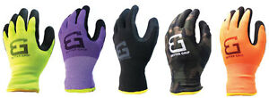 Better Grip Safety Winter Double Lining Knit Latex Dip Nylon Work Gloves bgwans