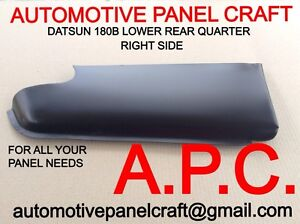 Datsun 180b Sss Lower Rear Quarter Rust Repair Panel Right Side