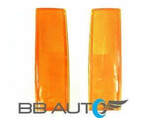 83 94 Chevy S10 Blazer Gmc S15 Jimmy Front Park Signal Marker Light Lens Set New