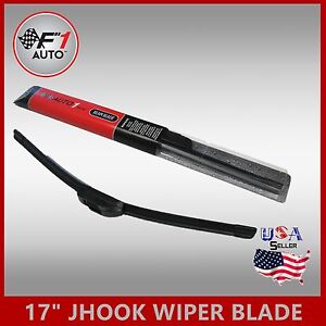 Jhook 17 Quality Bracketless Frameless Rubber Window Windshield Wiper Blade