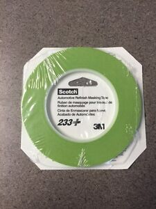 3m 26343 1 8 Scotch Automotive Performance Masking Tape 233 Green 2 Rolls