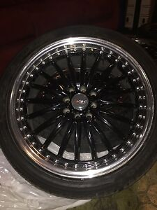 Black Rims And Tires