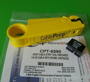 new Cable Prep Cpt 6590 Prep 6 59 Cable Stripper with Spare Cartridge