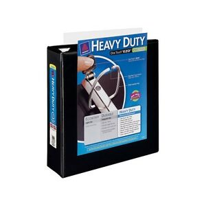 4 Avery Nonstick Heavy duty Ezd Reference View Binders 3 Capacity Black