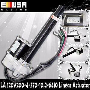 8 Stroke 200mm Linear Actuator 880lbs Max Lift For Car Boat 4mm s Spd Dc 120v