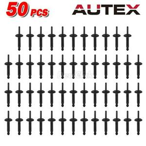 50 New Nylon Plastic Fascia Bumper Rivets Automotive Body Repair For Buick