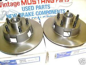 65 66 Mustang Fairlane Cougar Disc Brakes Rotors New