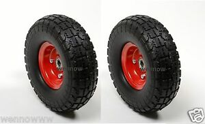 2pc Hand Truck Dolly Replacement 10 Flat Free Tire W 5 8 Bearing Filled W foam
