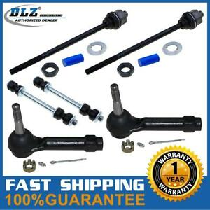 4 Pc Tie Rod End 2 Pc Sway Bar Link Kit For 2003 2005 Chevrolet Silverado 1500