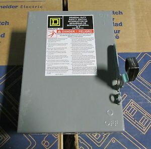 O Square D 30 Amp Safety Switch D321n New No Box