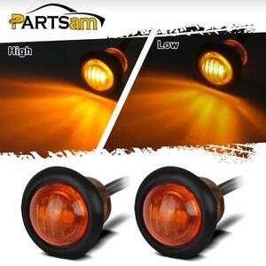 Pair 3 4 Led Marker Clearance Light Turn Signal Light 3diode Amber Light 3 Wire