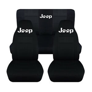 Car Suv Seat Covers Custom Fit 1993 1995 Jeep Wrangler Front And Rear Set