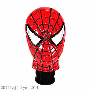 Red Spiderman Gear Shift Knob Car Manual Shifter Handle Stick Lever Universal