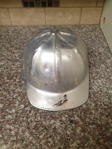 Aluminum Hard Hat Vintage Antique