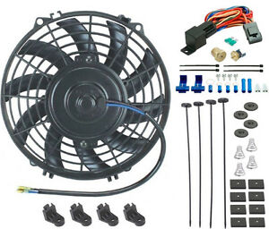 9 Inch Electric Fan 12v 80w Radiator Cooling 3 8 Npt Thread in Thermostat Kit