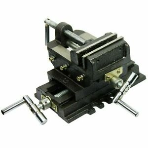 Cross Slide Vise 4 Inch Wide Drill Press X Y Clamp Milling Heavy Duty 2 Way