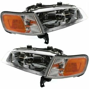 Halogen Headlight Set For 1994 1997 Honda Accord Left Right W Bulbs Pair