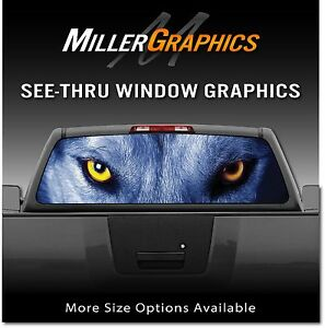 Wolf Eyes Wolves Rear Window Decal Graphic For Truck Suv