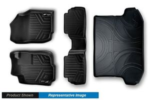 2 Rows And Cargo Black Floor Liners Mats Custom Fit Maxliner Mats Trunk