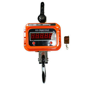 3000kg 3t Digital Crane Scale industrial Hanging Crane Scale With Remote Control