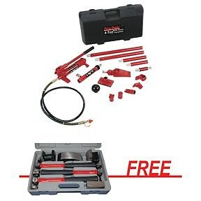 Blackhawk 65114f 4 Ton Porto Power Kit W Free 7pc Hd Body Fender Tool Set