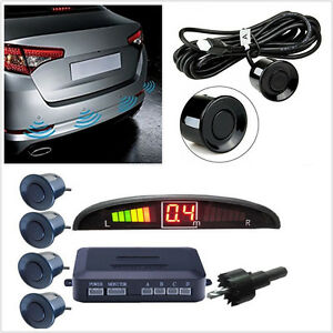 4 Sensors Buzzer Radar Led Display Audio Alarm Reverse Parking Radar Parktronic