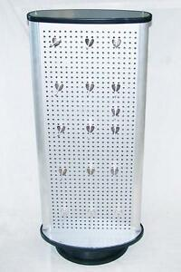 Spin Around Two Sided Peg Board Display Counter Rack With 36 Metal Pegs Pegboard