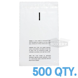 500 14x20 Self Seal Suffocation Warning Clear Poly Bags 1 5 Mil Free Shipping