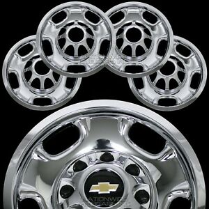 4 Chevy Silverado 2500 3500 Hd 17 8 Lug Chrome Wheel Skins Rim Covers Hub Caps
