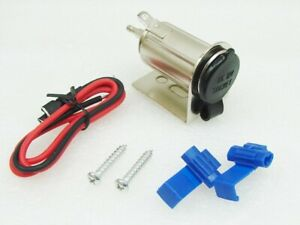 12v Waterproof Accessory Outlet Socket Charger Adapter Boat Motorcycle Rv Atv Zl