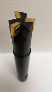 3 4 End Mill Indexable Extended Shank 90 Uses Apkt 1003pdr New 75 3 4 Inch