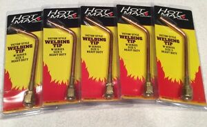 lot Of 5 New Hot Max 24075 Heavy Duty Gas Welding Tip nozzle W Series Size 5
