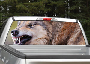 Wolf Growling Rear Window Decal Graphic For Truck Suv
