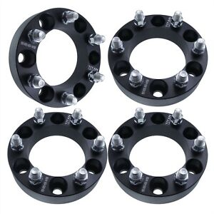 4x 2 Black Wheel Spacers Adapters 6x5 5 For Chevy Silverado 1500 Tahoe Suburban