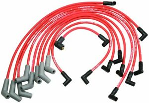 Ford Racing 9mm Red Ignition Wire Set 58l 50l 351w 302 New Spark Plug Wires