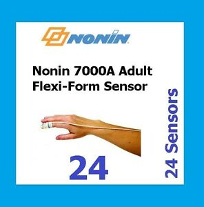 24 Pack Nonin Medical Flexi form Ii 7000a Disposable Adult Sensor For Oximeter