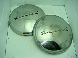 Pair Of 1951 Buick Dog Dish Hub Caps