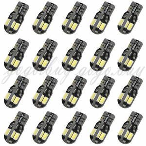 20 X Canbus T10 194 168 W5w 5730 8 Led Smd White Car Side Wedge Light Lamp Bulb