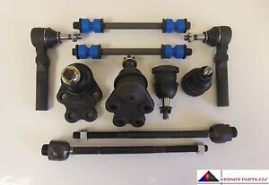 Fit 2000 2003 Chevrolet Silverado 1500 2wd Ball Joints Tie Rods Sway Bar Links