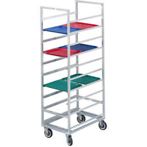 Channel Cafeteria Tray Rack For 14x18 Trays For 30 Trays Rack Is Aluminum