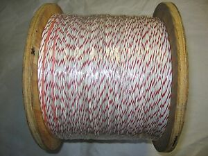 5000 Ft 22 Awg 7 30 Hook up lead Wire White red Mil w 16878e 1 Pvc Insul