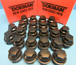 24 X Wheel Nut Cover Replaces Gm Oem 9593028 For Buick Chevy Gmc Pontiac Black